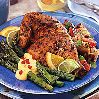 Chicken Marinated in Garlic, Chilies and Citrus Juices.