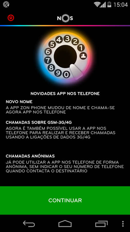 NOS Telefone- screenshot