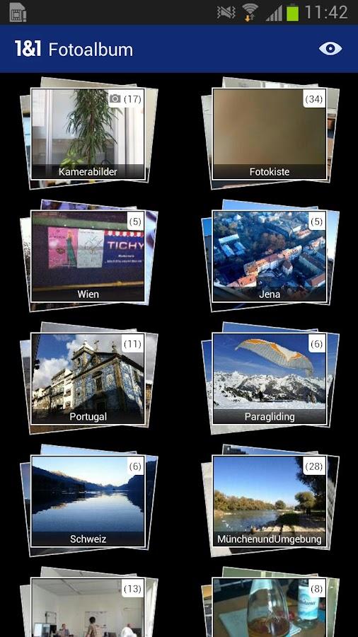 1&1 Fotoalbum - screenshot