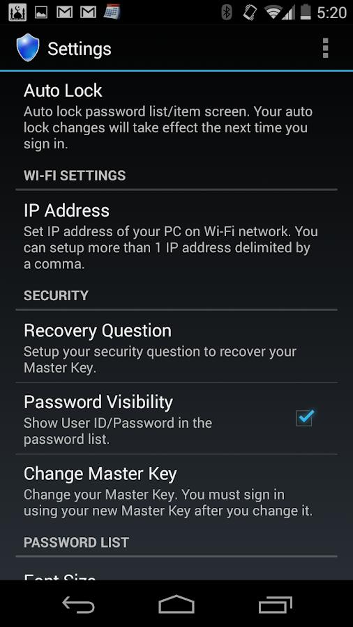 Password 360 Lite - screenshot