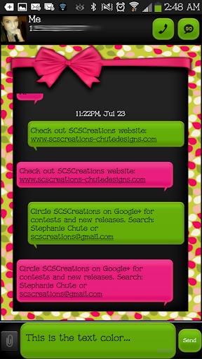 GO SMS - Bow Delight 3