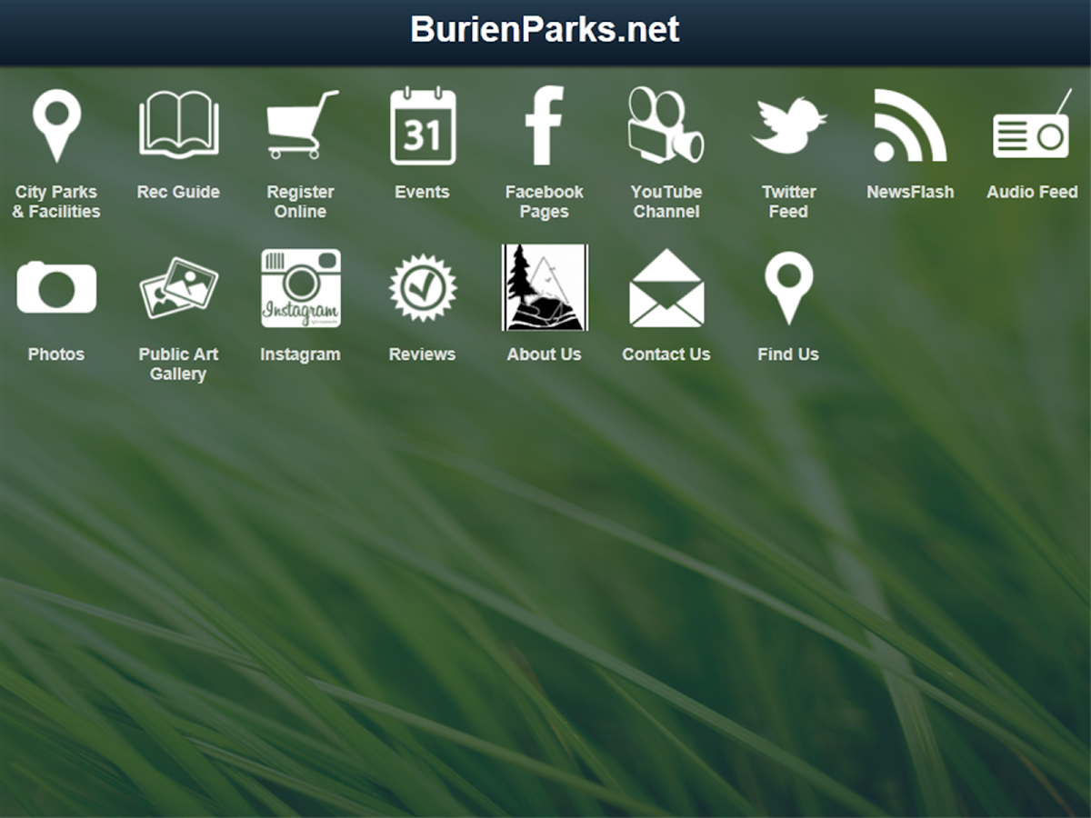 BurienParks.net - screenshot