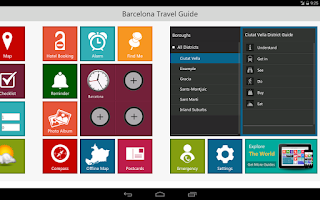 Screenshot of Barcelona Travel Pangea Guides