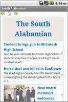 Screenshot of South Alabamian