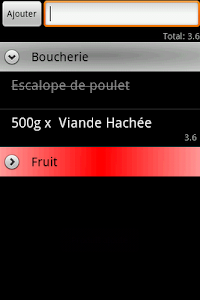 Mes Courses screenshot 1