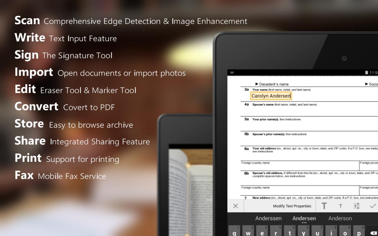 ScanWritr Pro: scan, PDF, fax - screenshot