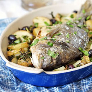 Whole Roast Bream with Potatoes & Olives Recipe