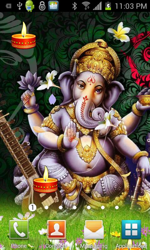 Shri GANESHA HQ Live Wallpaper - screenshot
