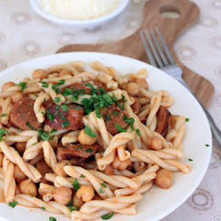 Chorizo Chickpea Pasta.