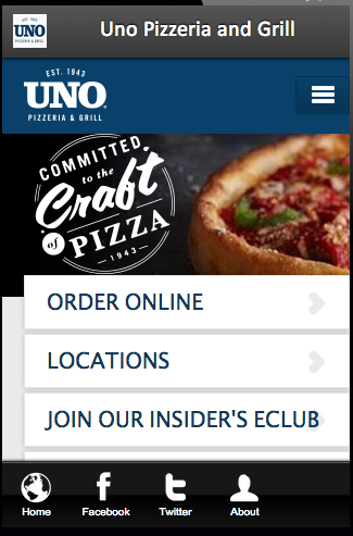 Uno Pizzeria and Grill- screenshot