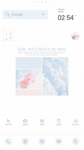 Cloud dodol launcher theme
