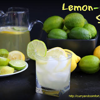 Homemade Lemon Lime Soda.