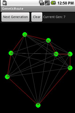 Routing with Genetic Algorithm- screenshot