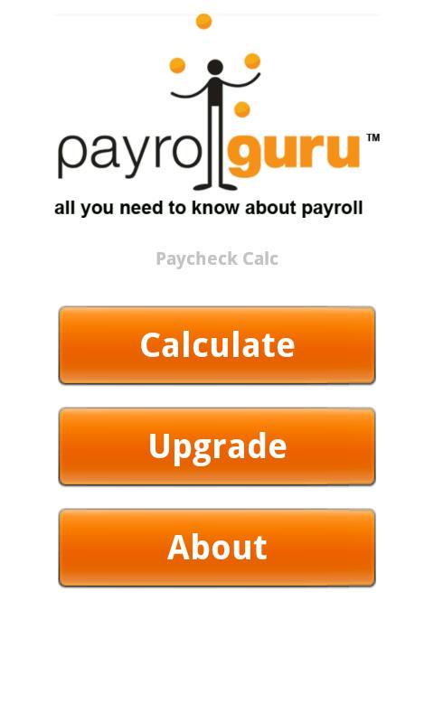 Paycheck Calc- screenshot