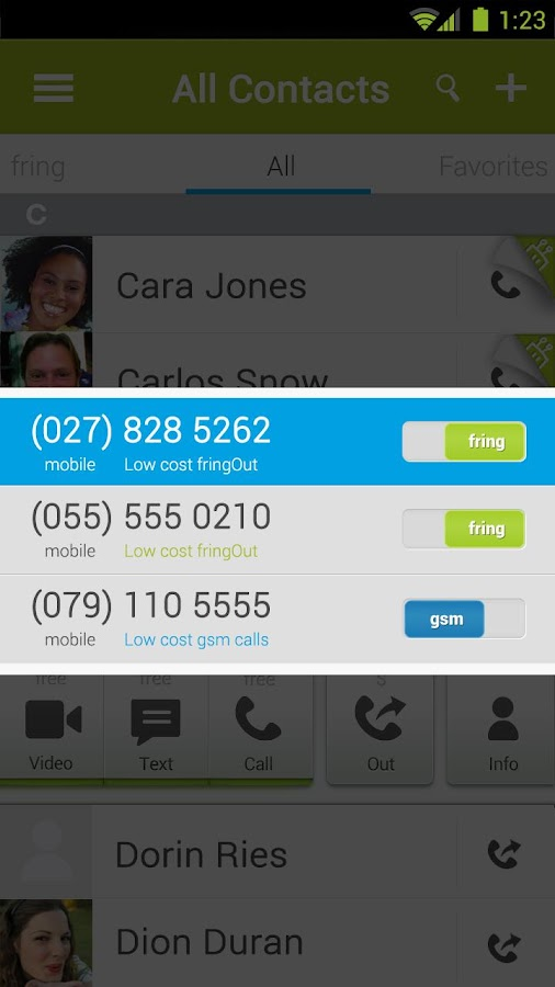 fring Free Calls, Video & Text- screenshot