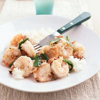 Ginger, Scallion and Garlic Shrimp.