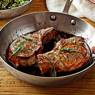 Pork Chops with Black Currant Sauce