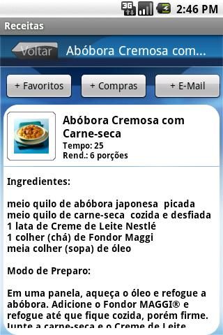 Nestlé Receitas - screenshot