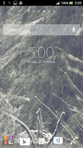 Snow Falling Live Wallpaper 3D