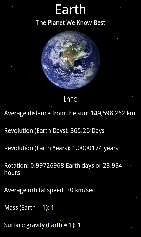 Solar System - Our Planets - Android Apps on Google Play