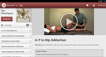 Screenshot of Mobile OMT Lower Extremity