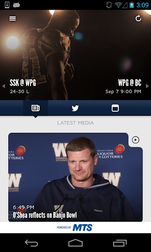 Official Wpg Blue Bombers App