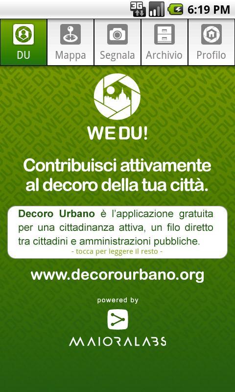 WeDU! Decoro Urbano - screenshot