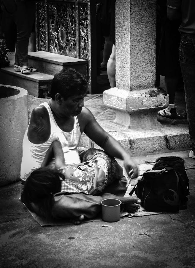 Life Is Hard by Eddy Tan - People Street & Candids ( life, street, white, portraits, black,  )
