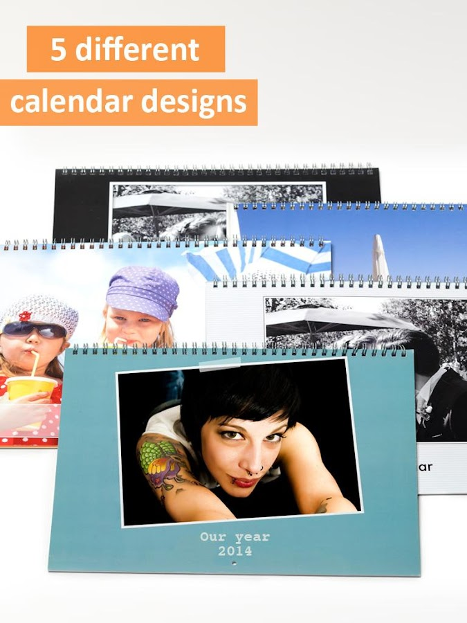PhotoCal™ printed calendar - screenshot