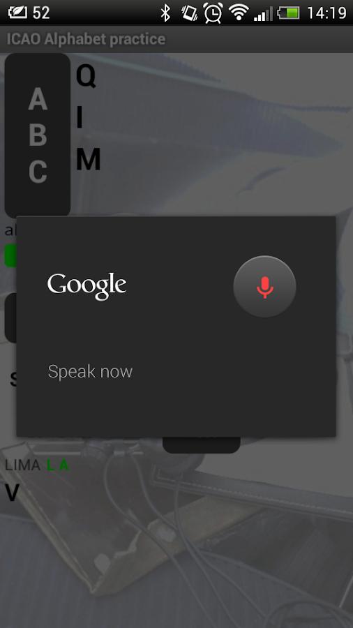 ICAO Phonetic alphabet trainer - screenshot