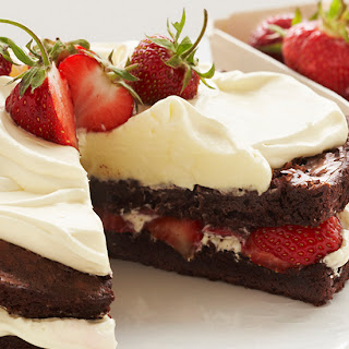 Strawberry Brownie Shortcake.