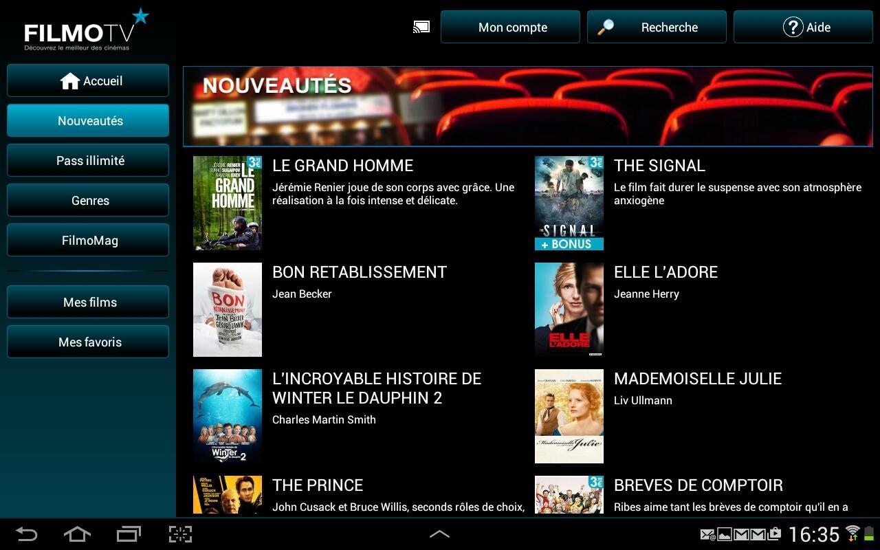 FilmoTV - Le cinéma en VOD - screenshot