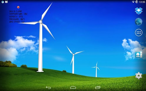 Wind turbines - meteo station screenshot for Android