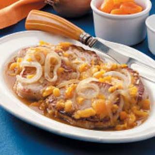 Onion-Apricot Pork Chops