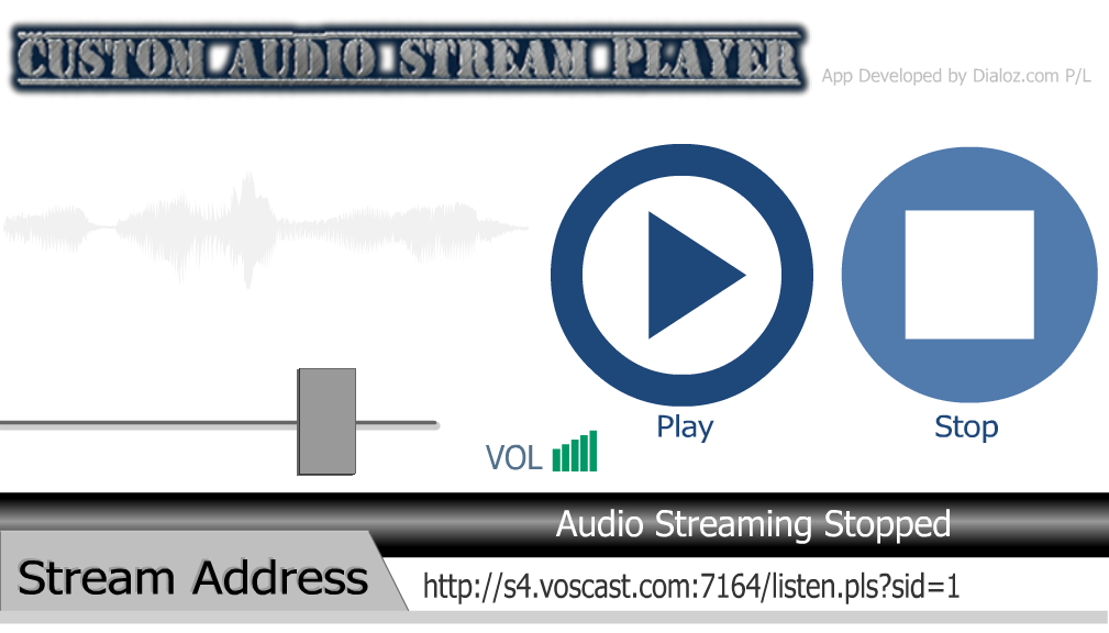 Custom Audio Stream Player- screenshot
