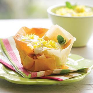 Lemon Filo Tarts.