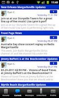 Screenshot of Jimmy Buffett Info