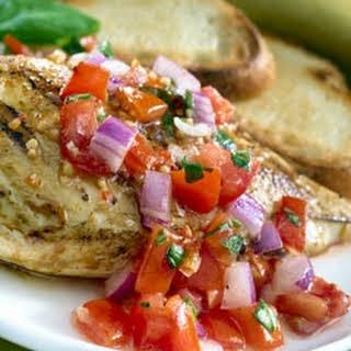 Marinated Chicken Bruschetta.
