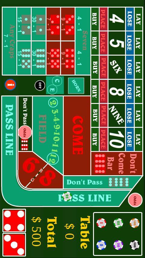 Foxwoods craps minimum bet