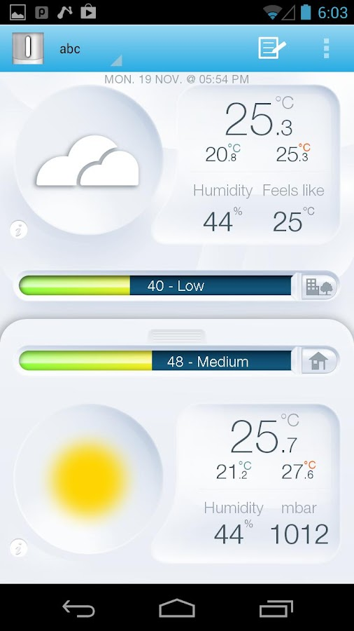 Netatmo Weather Station - screenshot