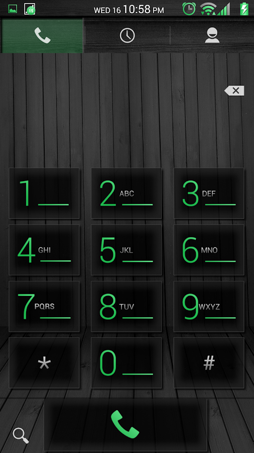 Black Wood Green CM11 Theme - screenshot