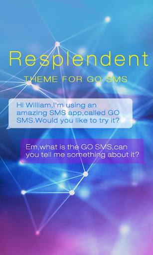 GO SMS PRO RESPLENDENT THEME