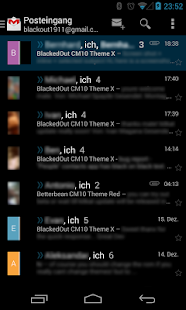 BetterKat CM11 Theme Blue X - screenshot thumbnail