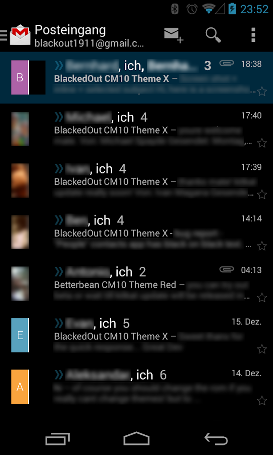 BetterKat CM11 Theme Blue X - screenshot