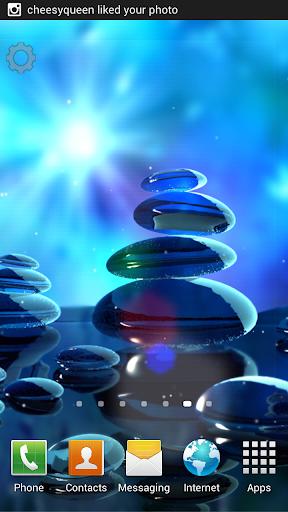 Blue Stones Live Wallpaper