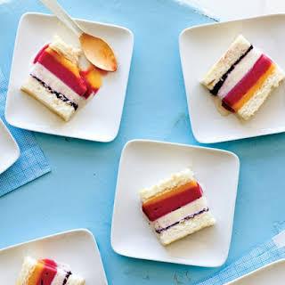 Striped Ice Cream Cake.
