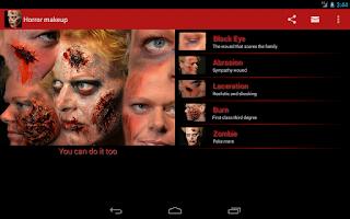 Screenshot of Halloween Horror Makeup Free
