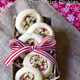 Cherry Ginger Thumbprint Cookies