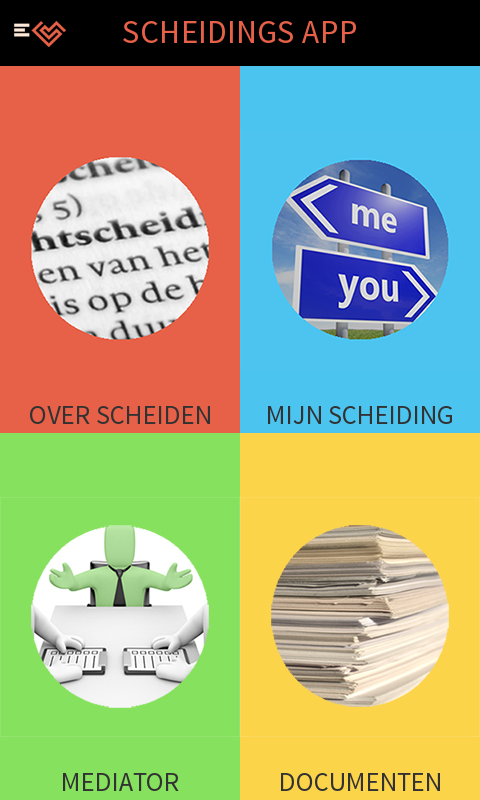 Scheiding app- screenshot
