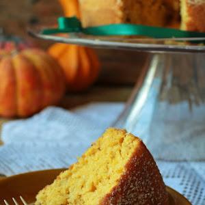 Pumpkin, Coconut, and Walnut Cake